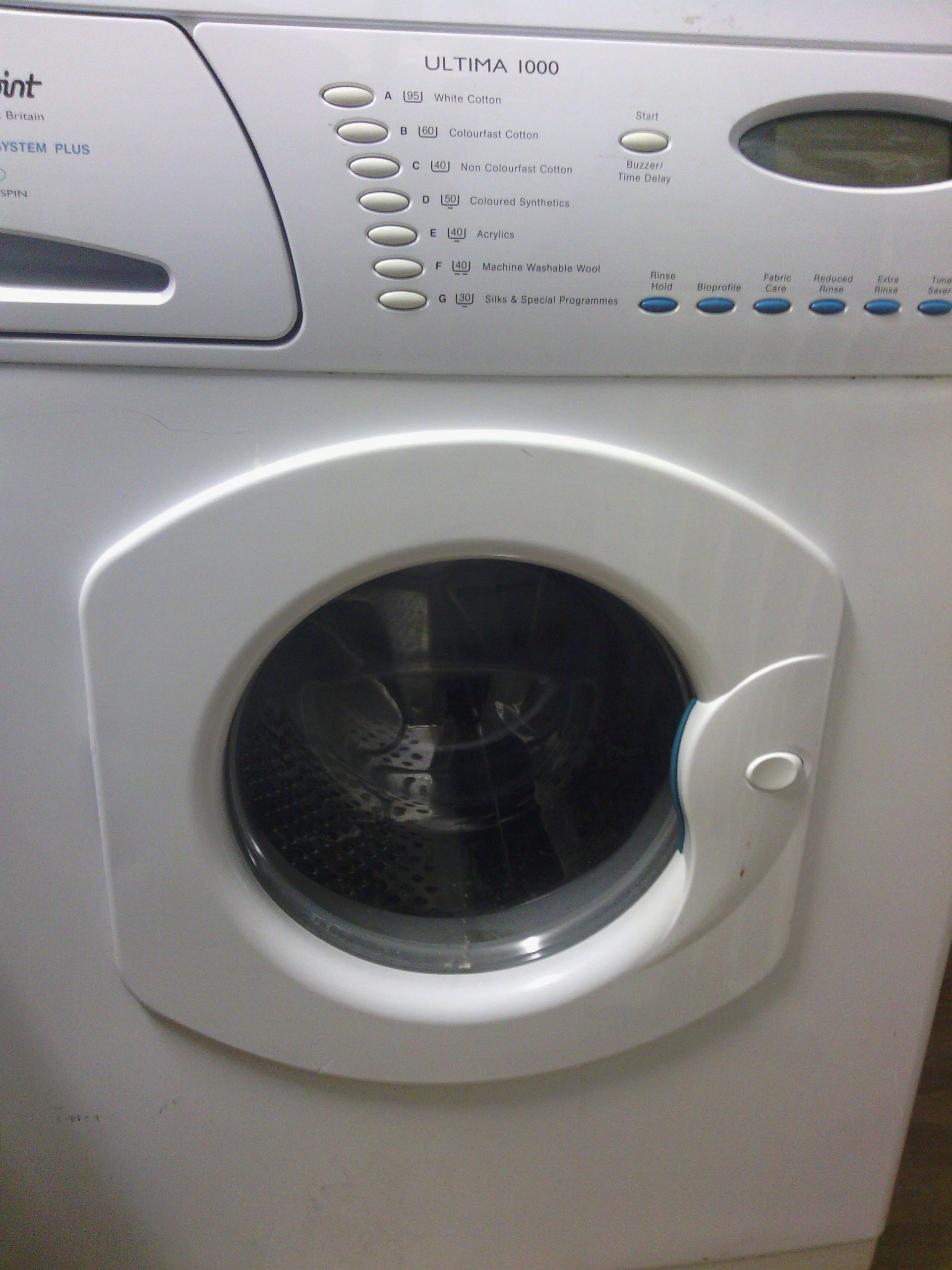 HOTPOINT washing machine ULTIMA 1000 Inteligent care