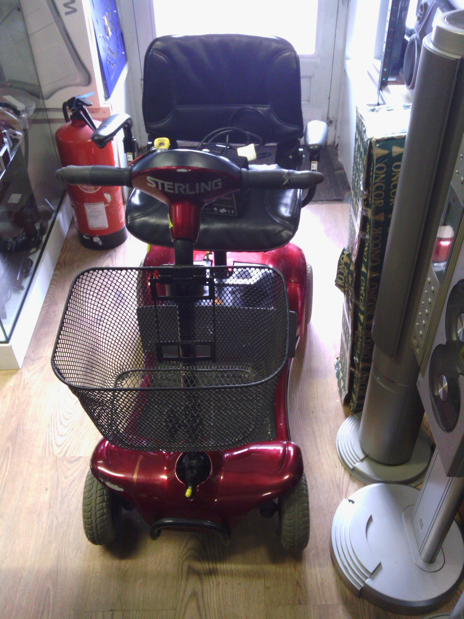 Mobility Scooter in red