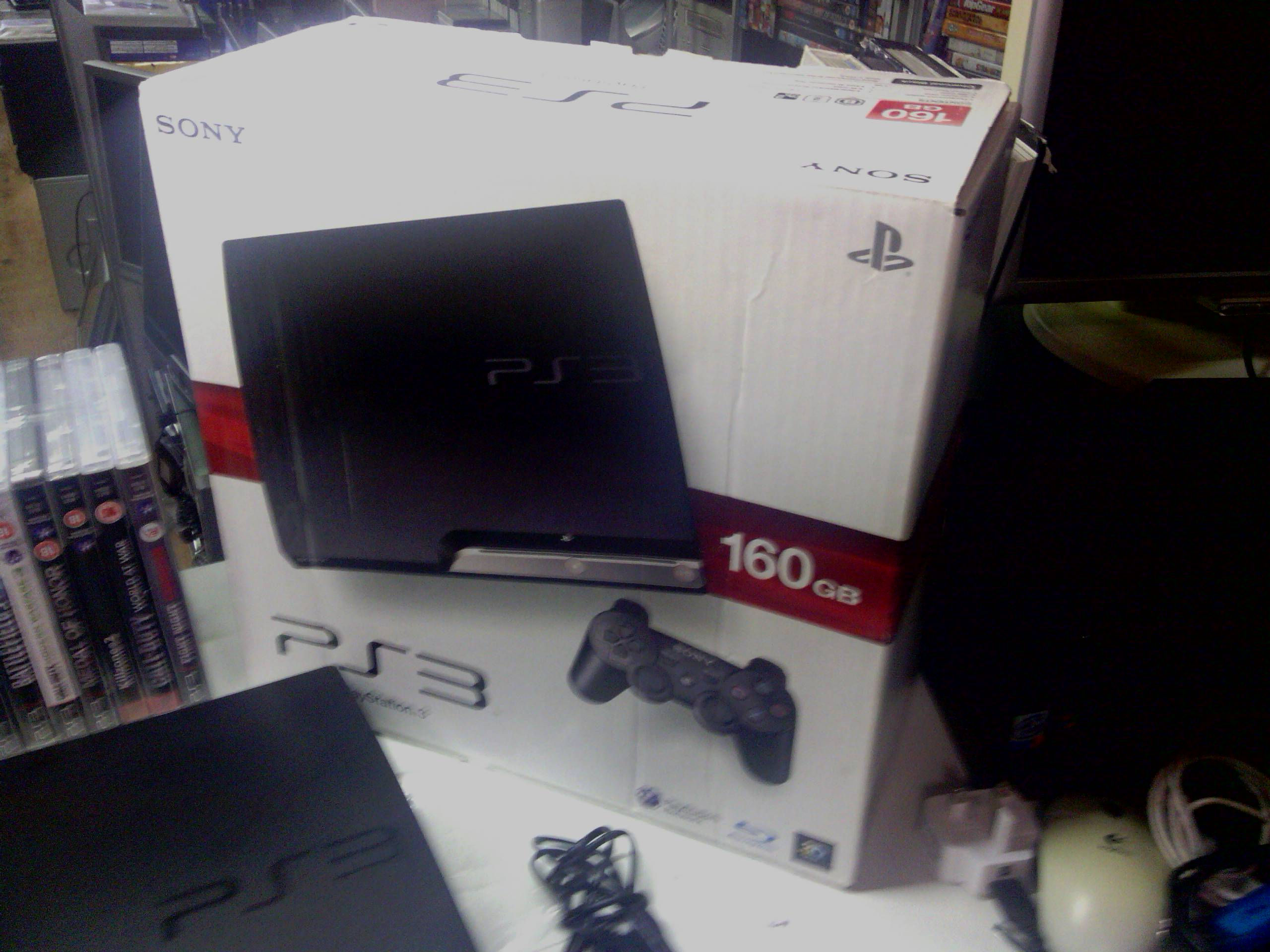 ps3 160 +2pads+21 games