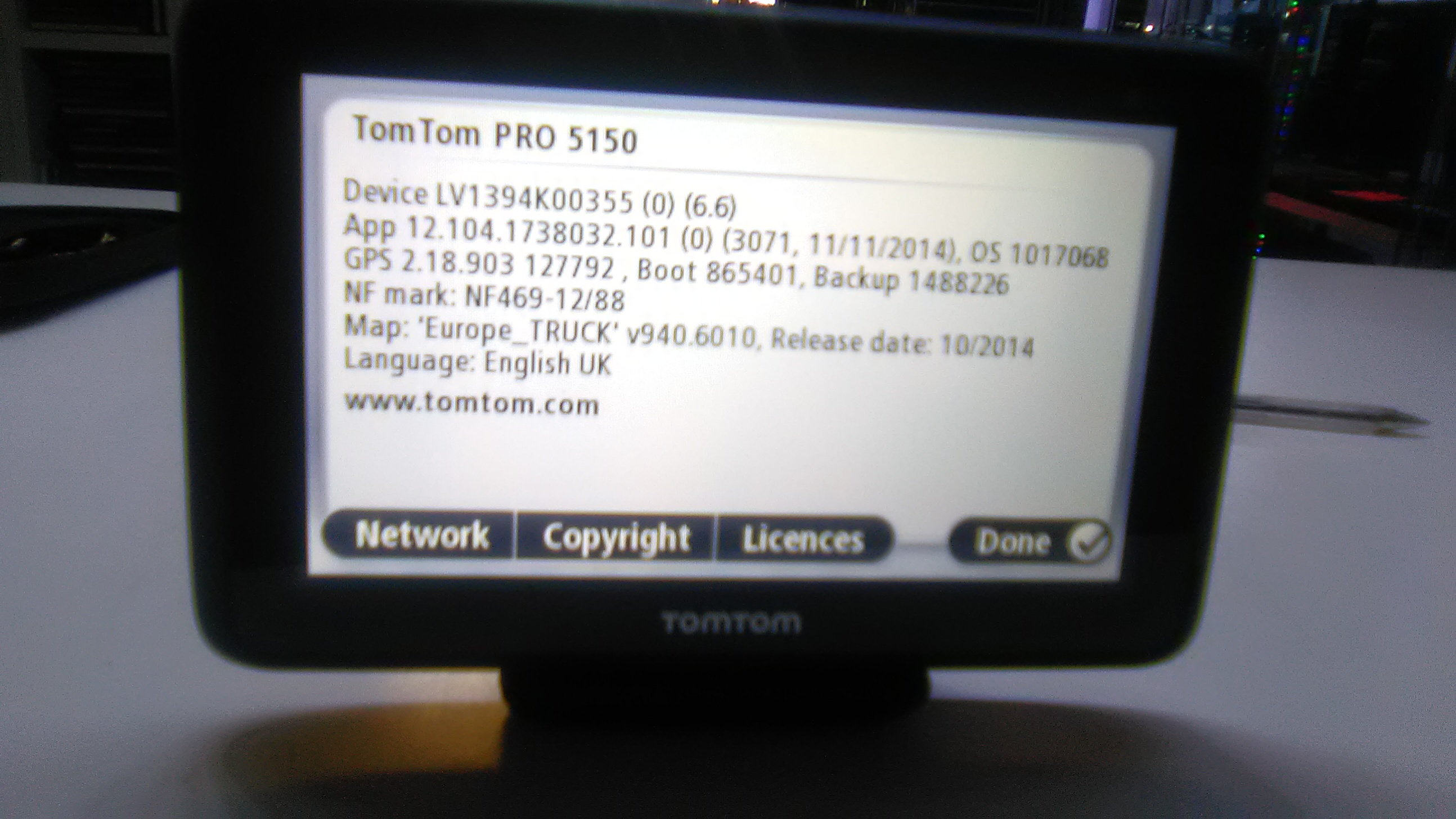 TomTom model pro for wagen and car